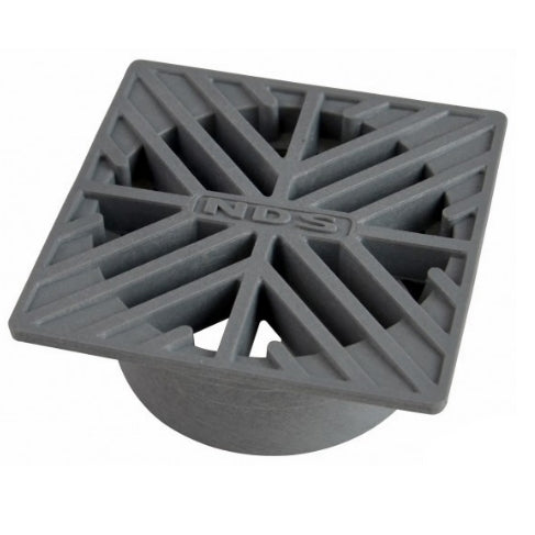NDS - 06 - 6 in. Sq Grate-Grey