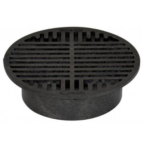 "NDS - 10 - 8"" Rd Grate-Black"