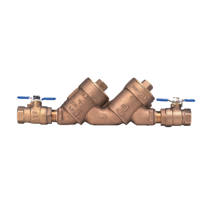 "Wilkins - 112-950XLT - 1 1/2"" 950XL Double Check Backflow Valve Assembly, Lead-Free"