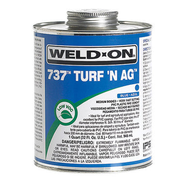 Weld-On - 10989 - 737 PVC Cement, BLUE, 1-Quart