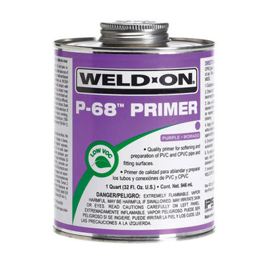 Weld-On - 10214 - P-68 PVC Primer, PURPLE, 1/2-Pint