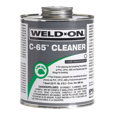 Weld-On - 10201 - C-65 Cleaner, CLEAR, 1-Quart