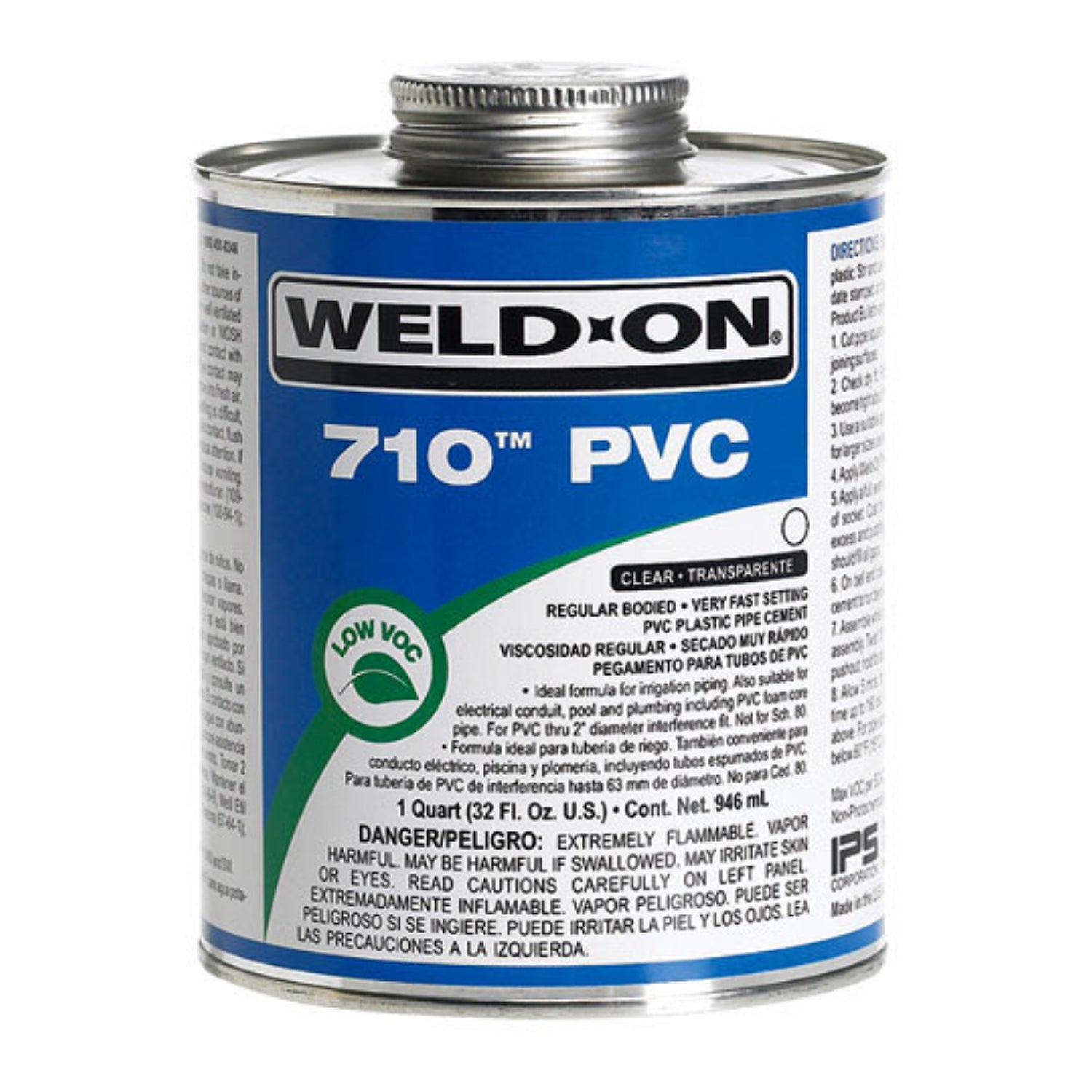 Weld-On - 10112 - 710 PVC Cement, CLEAR, 1-Quart