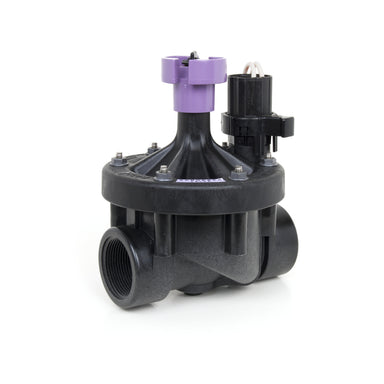 Rain Bird - 150PESB-R - 1 1/2 in. Plastic Industrial Valve with Scrubber, Reclaimed Water Cap
