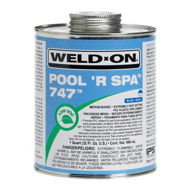 Weld-On - 10852 - 747 Pool 'R Spa Cement, BLUE, 1-Quart