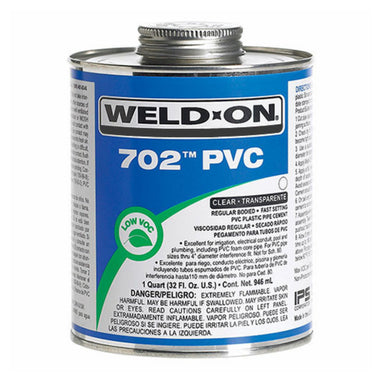 Weld-On - 10974 - 702 PVC Cement, CLEAR, 1-Gallon
