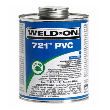 Weld-On - 10161 - 721 PVC Cement, BLUE, 1-Quart