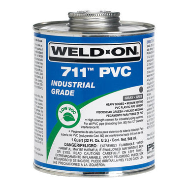 Weld-On - 10119 - 711 PVC Cement, GRAY, 1-Quart