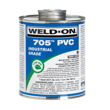Weld-On - 10090 - 705 PVC Cement, GRAY, 1-Quart