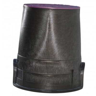 "NDS - 107PBCR - Standard 6"" Round, Overlapping Cover, Purple Lid"