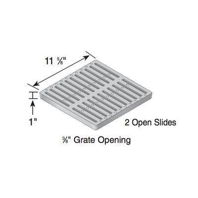 "NDS - 1213 - 12"" Sq Grate-Cast Iron"