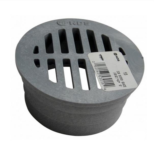 "NDS - 15 - 3"" Rd Grate-Gray"