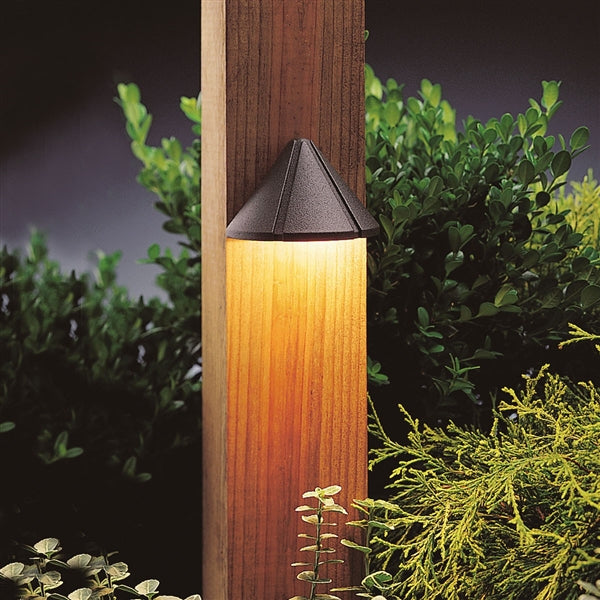 Kichler - 15765AZT27R -1LED 2700K Mini Deck Light, Textured Architectural Bronze