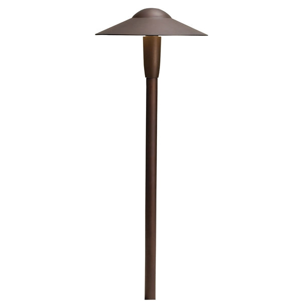 Kichler - 15810AZT30R -LED 3000K Dome Path Light, Textured Architectural Bronze