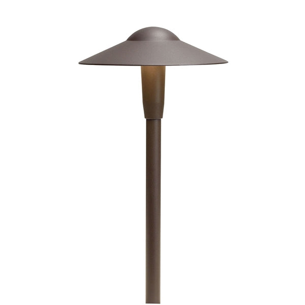 Kichler - 15811AZT27R -LED 2700K Short Dome Path Light, Textured Architectural Bronze