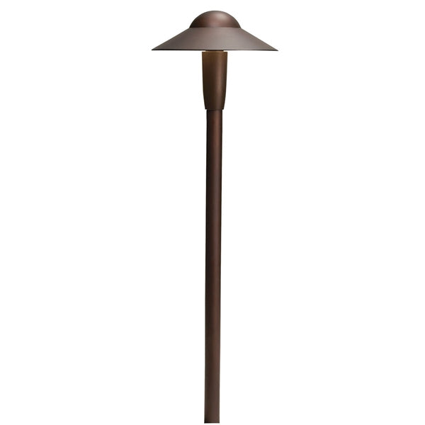Kichler - 15870AZT30R -LED 3000K 6-inch Dome Path Light, Textured Architectural Bronze