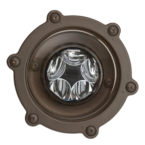 Kichler - 16035BBR27 - LED In-Ground Wide Flood, 2700K, 6.5W, 60 DEG, Bronzed Brass