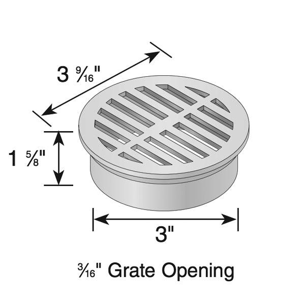 "NDS - 16S - 3"" Round Grate-Sand"