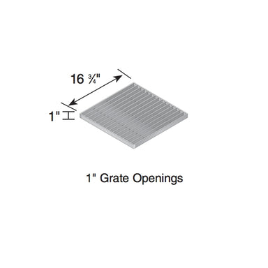 "NDS - 1815 - 18"" Sq Galvanized Steel Grate"