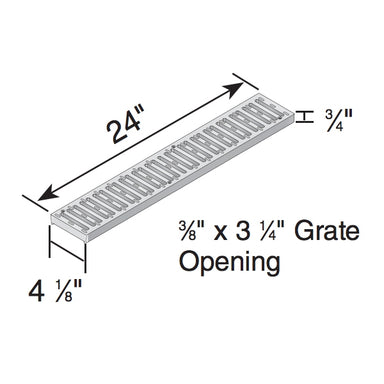 NDS - 241 - 2' GRAY CHANNEL GRATE