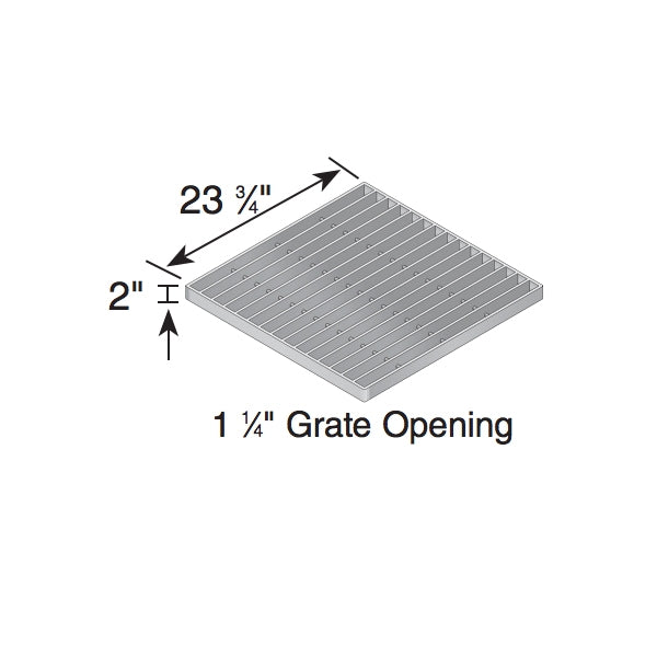 NDS - 2415 - 24x24 Galvanized Grate