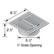 "NDS - 773 - 7"" Sq Grate-Gray"