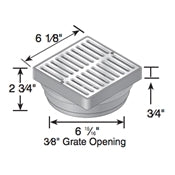 "NDS - 921B - 6"" Sq Brass Grate for Spee-D Basin"