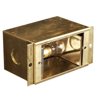 Advantage - ADV-SD-400B-SC - Brass Single 12v Recessed Step Box