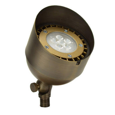 Unique - BISH-12-L727 - Bishop Up Light Brass Housing Weathered Brass 7W 2700K 32 Deg. LED