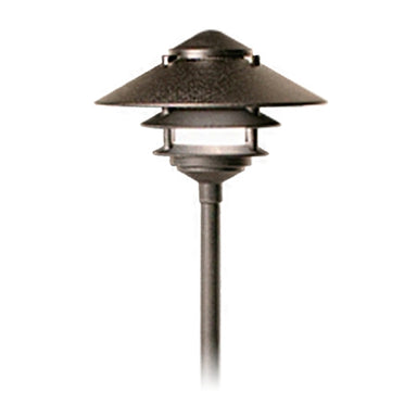"FX - DR-20-2T-12R-BZ - DM Path Light, 20 Watt Xenon, 2-Tier, 12"" Riser, Bronze Metallic"