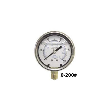 ILPG20025-4L Liquid Filled Pressure Gauge 0-200#