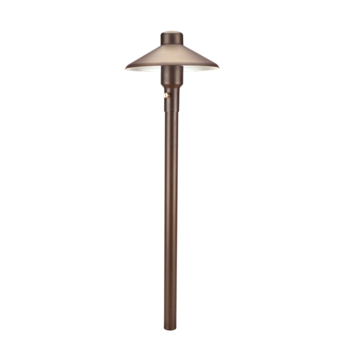 "Unique - M7-NL - 7"" Mercury Path Light 18"" Riser Brass Housing Weathered Brass Finish No Lamp"