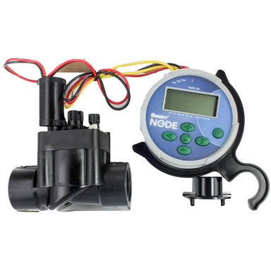 "NODE100VALVE: Battery Operated Controller, with 1"" PGV flow control valve and DC latching solenoid"