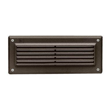 Kichler - 15073AZT - 12V Brick Wall Louvered Light Textured Architectural Bronze