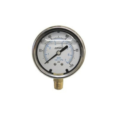 ILPG30025-4LNL - Lead Free Liquid Filled Pressure Gauge, 0-300#