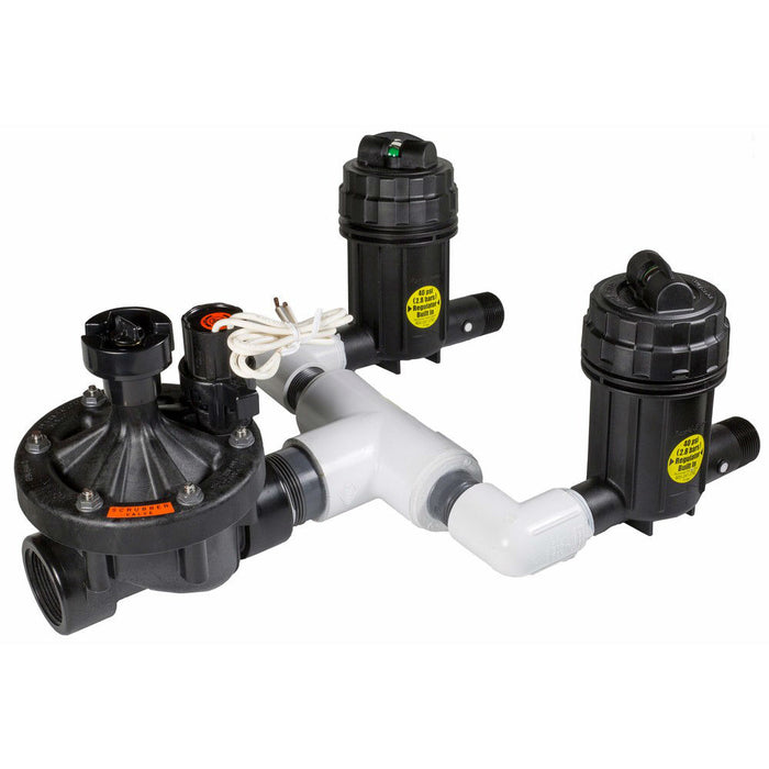 Rain Bird - XCZ-150-PRB-COM - XCZ High Flow Commercial Control Zone Kit with 1-1/2 in. PESB Valve and 2 40 psi Basket Filters