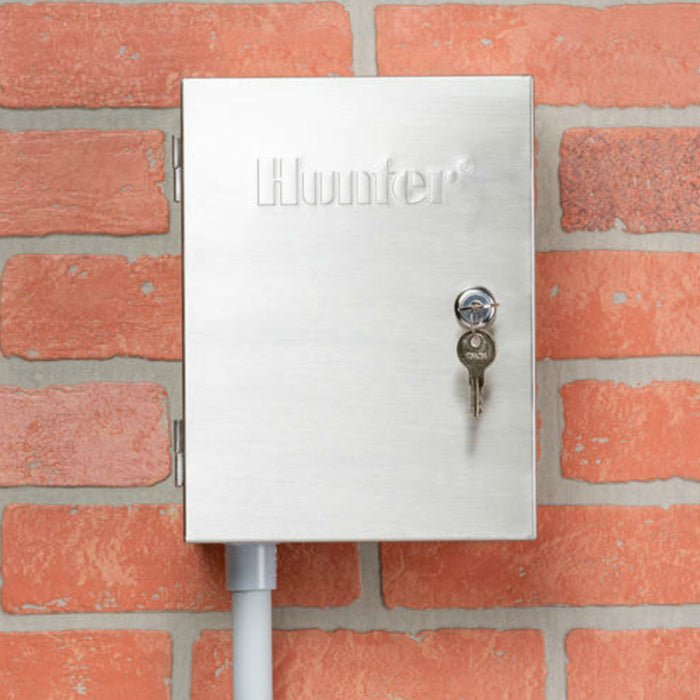 Hunter - XCH-600-SS - X-Core Hybrid Outdoor Controller 6 Station Stainless Steel