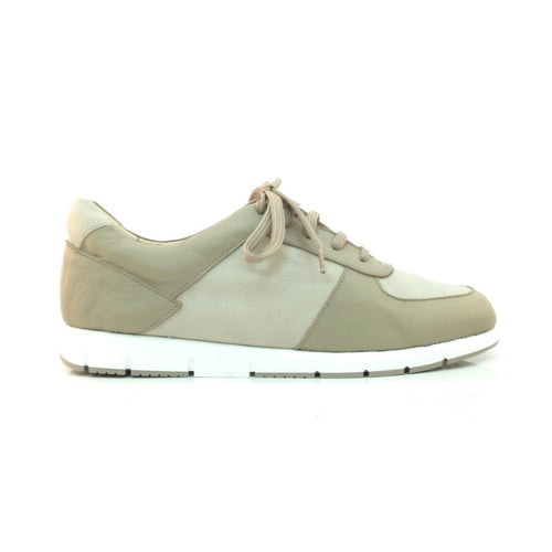 taupe leather sneaker