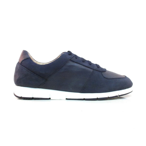 navy leather sneaker