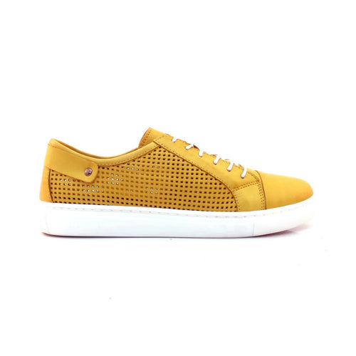 YELLOW LEATHER SNEAKER