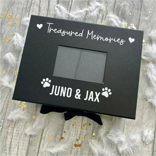 Personalised Treasured Memories Dog / Pet Photo Keepsake Memory Box
