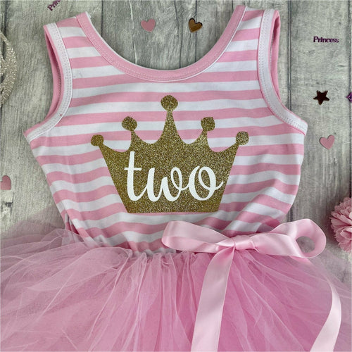 'I'm My Daddy's Girl And My Mummy's World' Baby Girl Tutu Romper With Matching Bow Headband