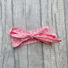 Pink Polka Dot Bow Baby Girl Headband