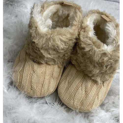 Brown Baby Fur Boots