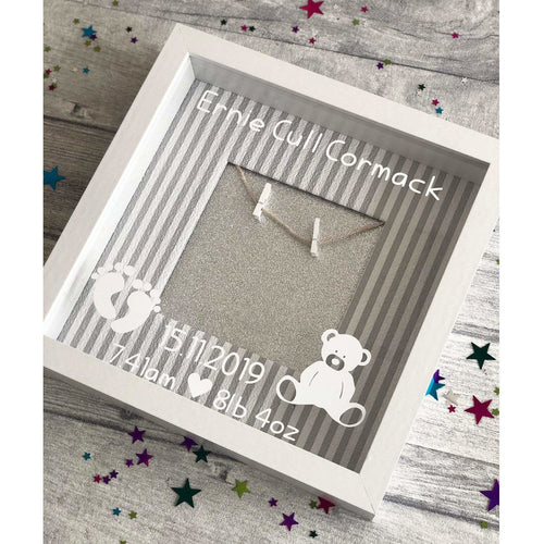 Personalised Baby New Arrival Wooden Peg Photo frame