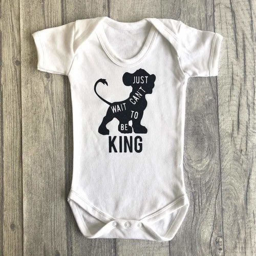 Disney Lion King 'Can't Wait To Be King' Baby Boy's Short Sleeve Romper