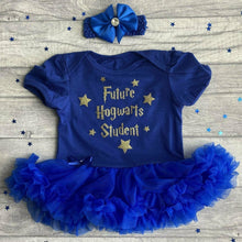 'Future Hogwarts Student' Harry Potter Theme Baby Girl Tutu Romper With Matching Bow Headband
