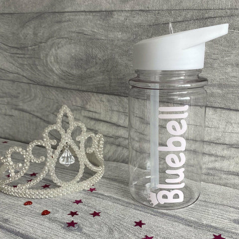 Small Personalised Crown Children's School Water Bottle