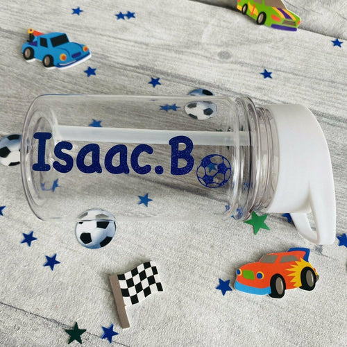 Small Personalised Football Children's School Water Bottle