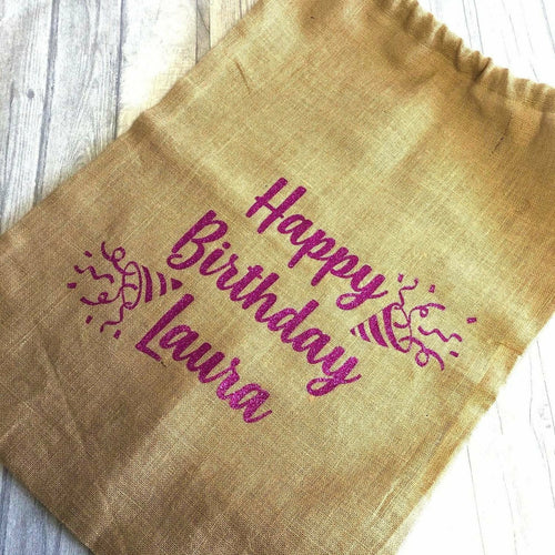 Personalised Birthday Confetti Gift Sack